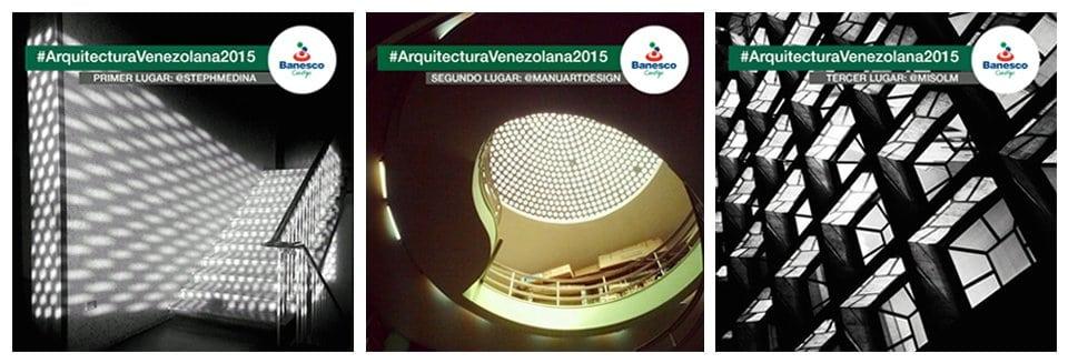 Banesco anunció a los ganadores del concurso #ArquitecturaVenezolana2015