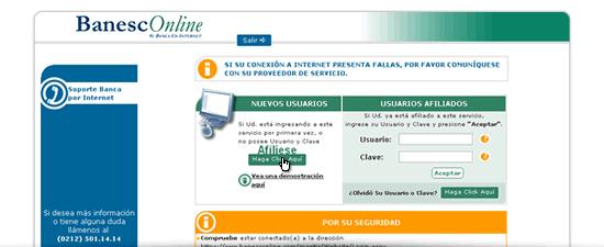 Banca en línea Banesco